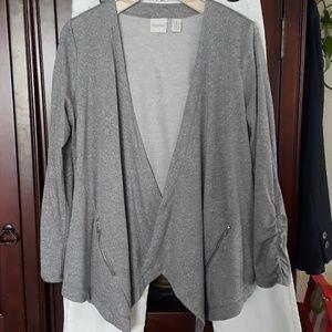Chico's Zenergy Lightweight Jacket, Gray